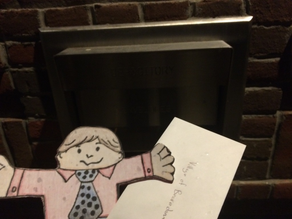 Flat Stanley helped me drop off my water/sewer bill before the meeting.